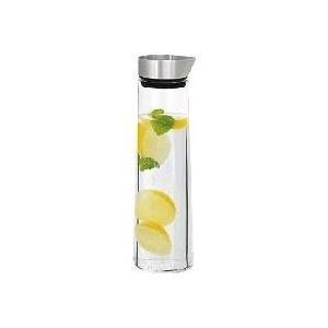 Blomus ACQUA - Karaffe - Transparent - Glas - Edelstahl - Rund - Silikon - Abziehbarer Deckel (63436)