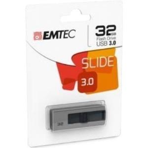 Speicherkarten, Speichermedien - EMTEC B250 Slide USB Flash Laufwerk 32GB USB3.0 Grau (ECMMD032GB253)  - Onlineshop JACOB Elektronik