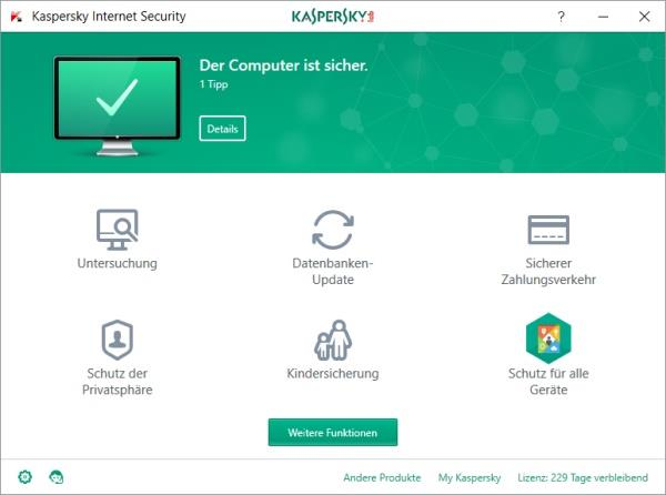 Kaspersky Lab Kaspersky Internet Security 2 Ger...