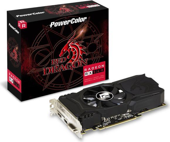 PowerColor Red Dragon Radeon RX 560 - Grafikkarten - Radeon RX 560 - 2 GB GDDR5 - PCIe 3.0 - DVI, HDMI, DisplayPort (AXRX560 2GBD5-DHAV2)