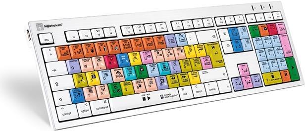 Logickeyboard LKB-LOGXP2-CWMU-DE USB QWERTZ Deutsch Tastatur (LKB-LOGXP2-CWMU-DE)