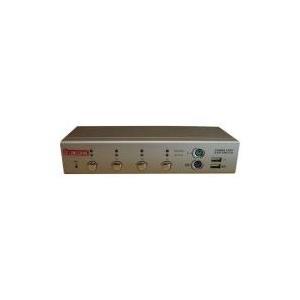 Longshine LCS-K704 - KVM-Switch - PS/2, USB - 4 x KVM port(s) - 1 lokaler Benutzer - Desktop (LCS-K704)