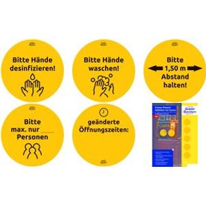Avery-Zweckform Hinweisschild Hygiene und Abstand Folie selbstklebend 12 Stück