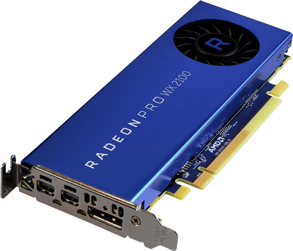 AMD Radeon Pro WX 2100 - Grafikkarten - Radeon Pro WX 2100 - 2GB GDDR5 - PCIe 3.0 x16 - 2 x Mini DisplayPort, DisplayPort (100-506001)