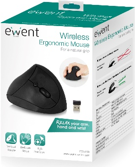 Ewent EW3150 RF Wireless Optisch 1600DPI rechts Schwarz Maus (EW3150)