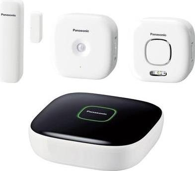 Panasonic Smart Home KX-HN6011 Home Safety Starter Kit - Sicherheits- und Überwachungssystem für Zuhause - drahtlos - 80