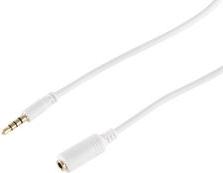 BASIC-S Audiokabel, 3,5 mm Klinkenstecker - 3,5 mm Klinkenkupplung, 4-Pol, 1,0 m, stereo, Haube: - 1 Stück (BS33111)