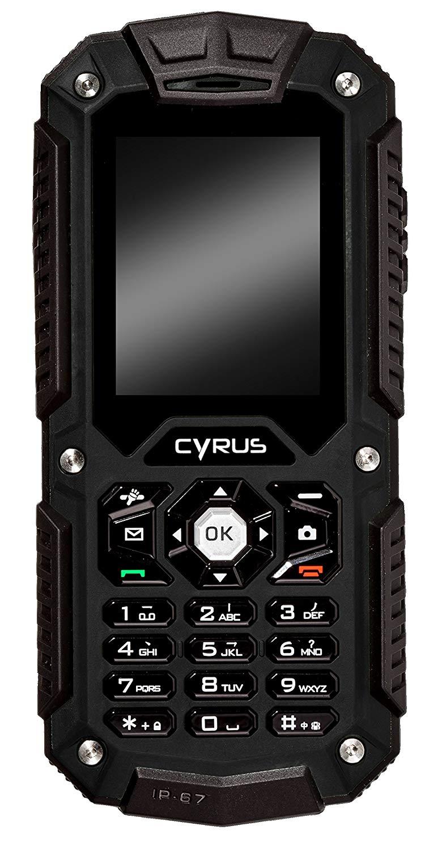 Outdoor Telefone - Cyrus CM 6 Mobiltelefon microSDHC slot GSM 220 x 176 Pixel TFT 1,3 MPix Schwarz (CYR10049)  - Onlineshop JACOB Elektronik