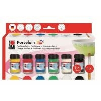 "Marabu Porzellanfarbe ""Porcelain"", Starter Set Porzellanmalfarbe auf Wasserbasis, geruchsneutral (110500087)"