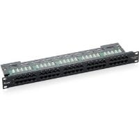 Equip ISDN So Patch Panel - Patch Panel - Schwarz - 1U - 25 Ports (125294)