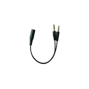 Sandberg Head-Set Converter - Audio-Adapter - Mini-Phone 3,5 mm, 4-polig (W) - Mini-Phone 3,5 mm (M) (508-67)