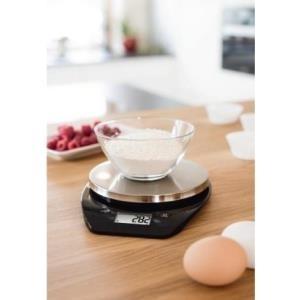 Xavax Lenia Tisch Rund Elektronische Küchenwaage Schwarz   Silber (00095314)