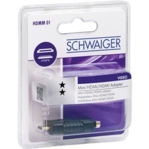 Schwaiger HDMM01 533 - HDMI - miniHDMI - Männlich/weiblich - Gold - Schwarz - 4096 x 2160 Pixel (HDMM01533)