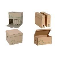 FAST Archiv-Schachtel Nature Line, aus brauner ...
