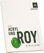 """RÖMERTURM Künstlerblock """"ACRYL UND ROY"""", 240 x 320 mm Acrylmalblock, weiß, rau, 290 g/qm, 20 Blatt, - 1 Stück (88809326)"""