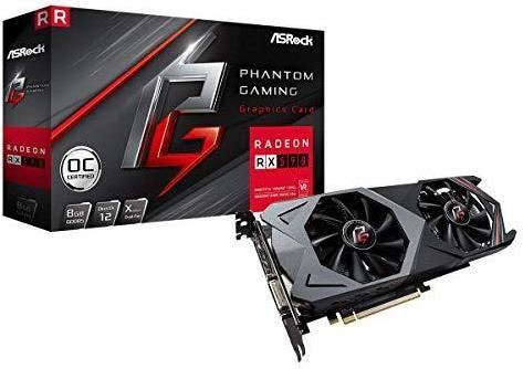 ASRock Phantom Gaming X Radeon RX590 8G OC - Grafikkarten - Radeon RX 590 - 8 GB GDDR5 - PCIe 3.0 x16 - DVI, 2 x HDMI, 2 x DisplayPort