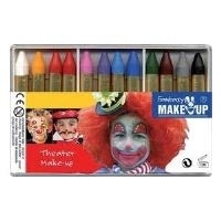 "C.KREUL Schminkstift-Set ""Fantasy Theater Make Up, 12 Farben wasserlösliche Kinderschminke, kosmetikgerecht nach EU- (37052)"