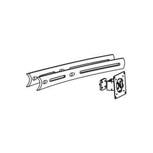 Ergotron DS100 Crossbar Extender, Long - Montagekomponente (Erweiterung für Querstrebe, mittlere Halterung) für 2 LCD-Displays - Aluminium, Stahl - Schwarz - Bildschirmgröße: bis zu 66cm (bis zu 66,00cm (26) ) - Montageschnittstelle: 100 x 100 mm, 75