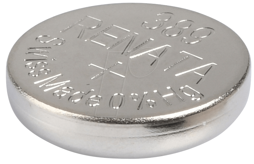 RENATA 389 - Silberoxid-Knopfzelle, 389, 80 mAh, 11,6 x 3,1 mm (389)