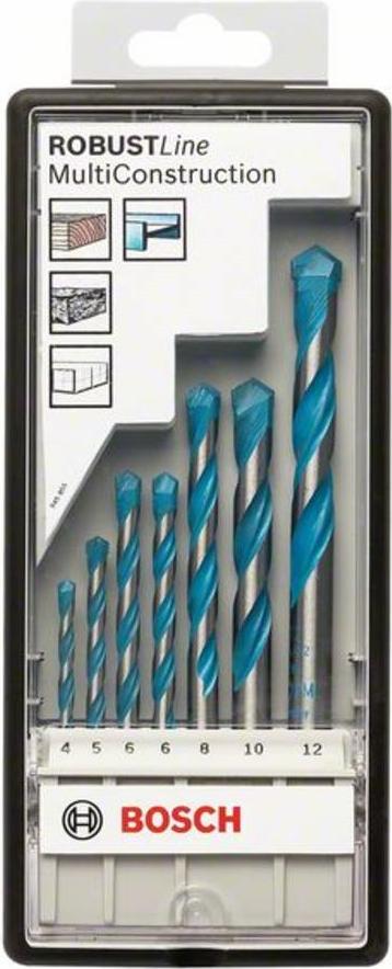 Bosch Robust Line CYL-9 Multi Construction - Bohrersatz für Mehrzweckanwendungen 7 Stücke 5 mm, 6 8 10 4 12 mm Länge: 75 85 100 120 150