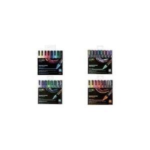 uni-ball Pigmentmarker POSCA PC-5M, 8er Box, warme Farben wasserfest, lichtbeständig, geruchsfrei, Rundspitze, - 1 Stück (PC5M/8 ASS15) - broschei