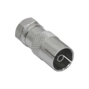 InLine® Adapter F-Stecker (SAT) auf IEC-Buchse (Antenne) (69922)