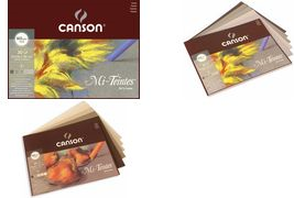 CANSON Künstlerpapier Mi-Teintes, im Block, 320 x 410 mm 30 Blatt, 160 g/qm, 1 Seite mit Bienenwaben-Struktur, - 1 Stück (400030145)