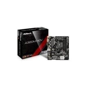 ASRock A320M-HDV - Motherboard - Mikro-ATX - Socket AM4 - AMD A320 - USB3.0 - Gigabit LAN - Onboard-Grafik (CPU erforderlich) - HD Audio (8-Kanal) (90-MXB3T0-A0UAYZ)