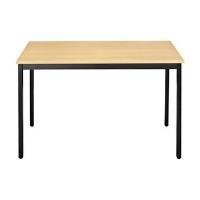 SODEMATUB Universaltisch 148RHN, 1.400 x 800, buche/schwarz Arbeitsplatte: buche, Gestell: schwarz, Höhe: 740 mm (148RHN) - broschei