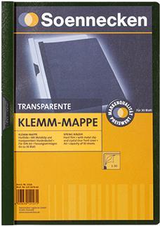 Soennecken Klemmmappe 3318 DIN A4 bis 30Blatt PVC grün (3318)
