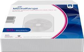 MediaRange Zubehör CD-/DVD-Rohlinge Notebook-Hülle 1Disks Transparent (BOX64-8)