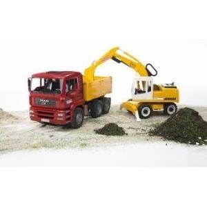 BRUDER Articulated road loader FR 130 - Schwarz...