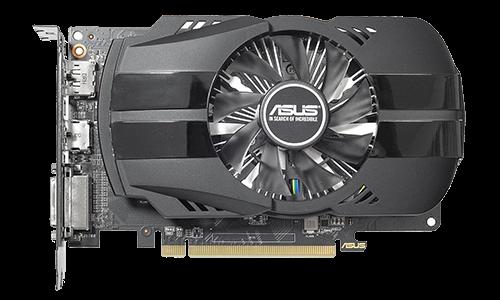 ASUS PH-RX550-4G - Grafikkarten - Radeon RX 550 - 4GB GDDR5 - PCIe 3.0 x16 - DVI, HDMI, DisplayPort (90YV0AG2-M0NA00)