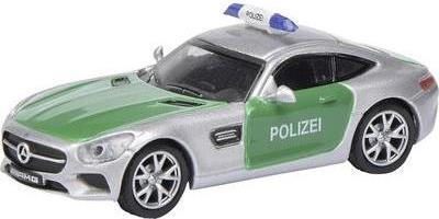 Schuco Mercedes-Benz AMG GT S Polizei Vormontie...