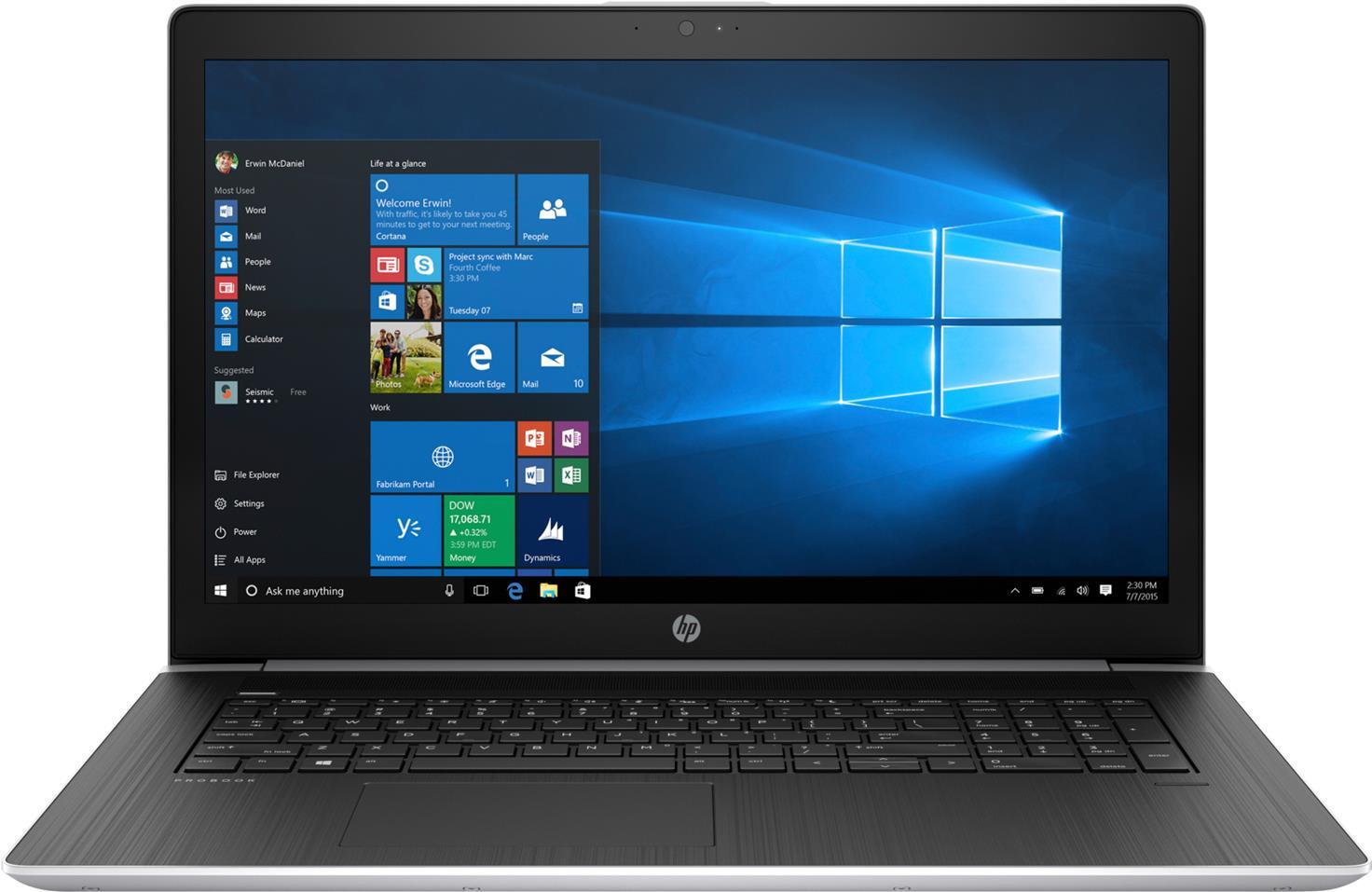 Notebooks, Laptops - HP Inc HP ProBook 470 G5 Core i5 8250U 1.6 GHz Win 10 Pro 64 Bit 8 GB RAM 256 GB SSD NVMe 43.9 cm (17.3) IPS 1920 x 1080 (Full HD) UHD Graphik 620 GF 930MX Wi Fi, Bluetooth kbd Deutsch (3KZ02EA ABD)  - Onlineshop JACOB Elektronik