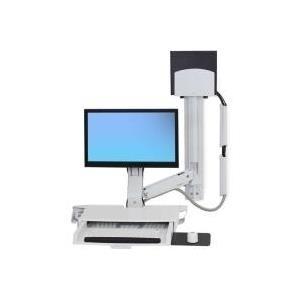 Ergotron StyleView Sit-Stand Combo System with Worksurface - Befestigungskit (Griff, Gelenkarm, CPU-Halter, Maushalterung, 2 Kabelkanäle, Handgelenkkissen, Wandschiene, Tastatur-Tablett, wall CPU mount, adjustable monitor arm) für jetztbilligerkaufen