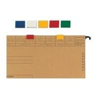 ELBA Farbreiter, aus PVC, zum Aufstecken, dunkelgrün für Hängeregistratur vertic 1, Maße: (B)20 x (T)5 x (H)16 mm (85512 DG)