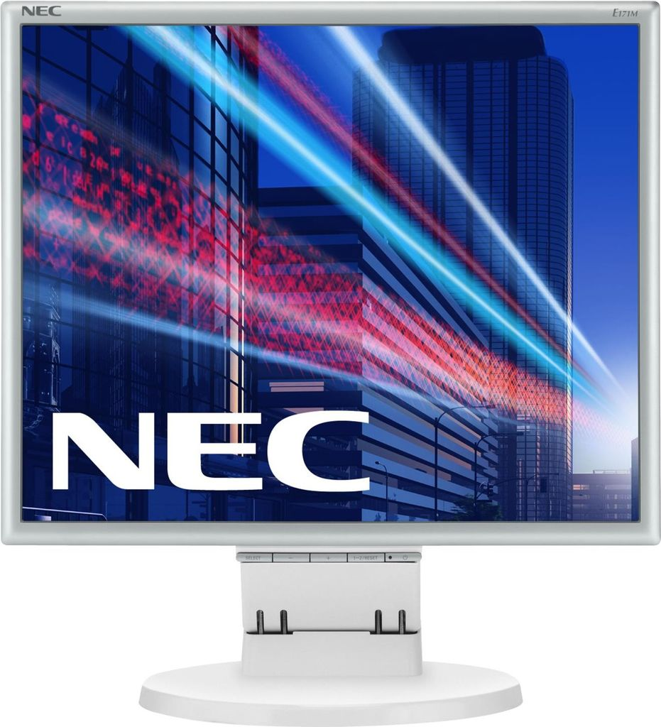 Computermonitore - NEC MultiSync E171M LED Monitor 43,27 cm (17) 1280 x 1024 250 cd m2 1000 1 5 ms DVI D, VGA Lautsprecher weiß (60003581)  - Onlineshop JACOB Elektronik