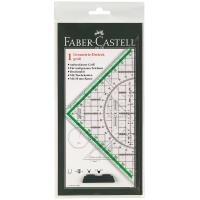 Faber-Castell Faber Castell 177090 - Zeichendreieck groß, mit Griff jetztbilligerkaufen