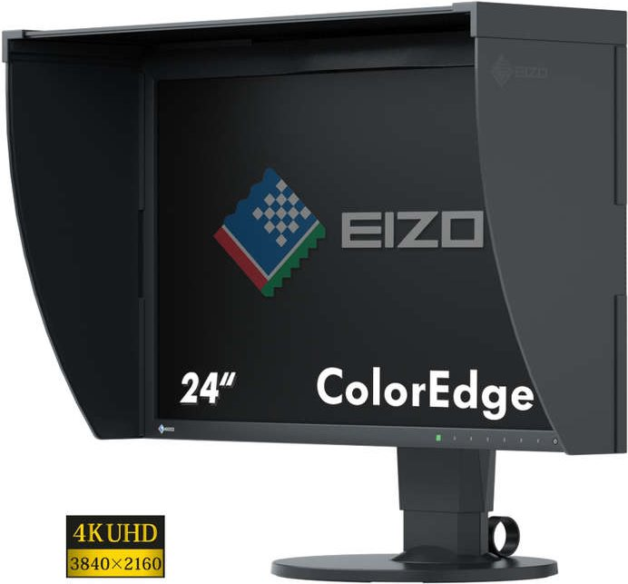 EIZO ColorEdge CG248-4K - LED-Monitor - 60,4 cm (23.8) - 3840 x 2160 4K - IPS - 350 cd/m2 - 1000:1 - 14 ms - HDMI, DisplayPort - Schwarz (CG248-4K)