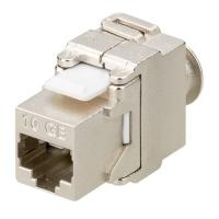 KeyStone Jack Cat. 6a RJ45, toolless, STP, 500 MHz, SNAP-IN, Shielded, Good Connections (8066-KS15) - broschei