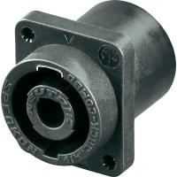 Neutrik Lautsprecher-Steckverbinder Flanschbuchse, Kontakte gerade Polzahl: 2 Schwarz NLJ2MD-H 1 S - broschei