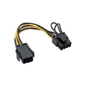 InLine® Strom Adapter intern, 6pol zu 8pol für PCIe (PCI-Express) Grafikkarten (26626)