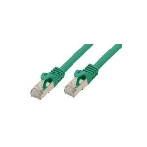 RJ45 Patchkabel mitCat.7 Rohkabel und Rastnasenschutz (RNS), S/FTP, PiMF, halogenfrei (LSOH), 600MHz, grün, 10m, Good Connections im POLYBAG (GCT-1417) jetztbilligerkaufen