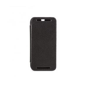 XQISIT Folio Case Rana - Flip-Hülle für Mobiltelefon - Kunstleder - Schwarz - für HTC One (M8) (16400)
