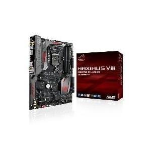 Mainboards - ASUS MAXIMUS VIII HERO Motherboard LGA1151 Socket Gigabit LAN Onboard Grafik (CPU erforderlich) HD Audio (8 Kanal) (90MB0P50 M0EAY0)  - Onlineshop JACOB Elektronik