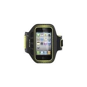Belkin EaseFit Sport - Arm Pack für Mobiltelefon - Schwarz, Zartoliv - für Apple iPhone 4, 4S (F8Z894CWC00)