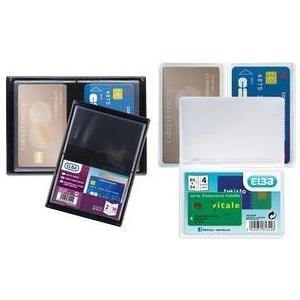 ELBA Kreditkartenhülle für 4 Kreditkarten, 300 my, PVC gepackt zu 15 Stück - 15 Stück (100202636)