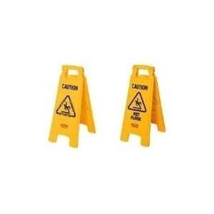 Rubbermaid Warnschild Caution Wet Floor aus PP,...