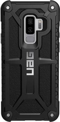 Image of Urban Armor Gear UAG Rugged Case for Samsung Galaxy S9 Plus [6-2 screen] - Monarch Black - Hintere Abdeckung für Mobiltelefon - widerstandsfähig - feinstes Leder, Legierungsmetall - Schwarz - 6-2 - für Samsung Galaxy S9+ (GLXS9PLS-M-BLK)